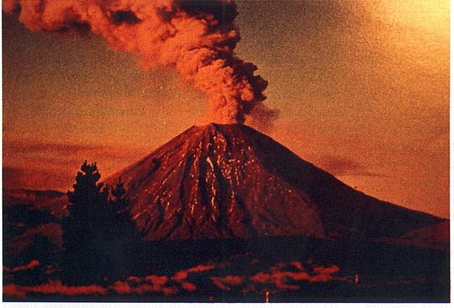 Erupting Composite Volcano