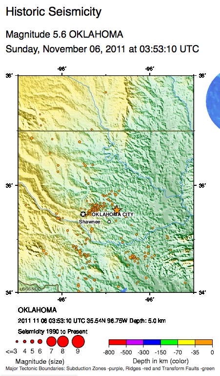 SIO15: 2011 Oklahoma Earthquakes
